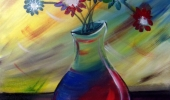 Abstract-Vase-&-Flowers