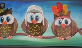 Thankful Owl Pilgrims