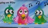 Bird-Singing-on-wire