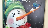 Window-Snowman-&-Bird