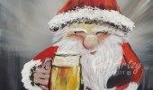 Santa-and-Beer