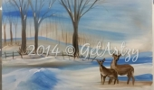 Winter-Scene-w-Deer