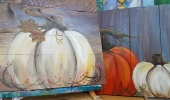 Pumpkin on wood